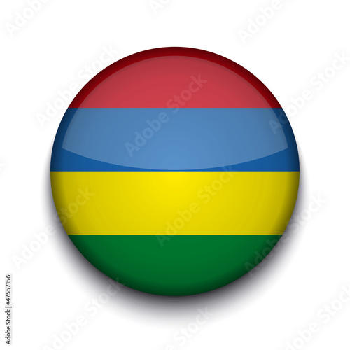 Vector creative circle flag on white background. Eps10