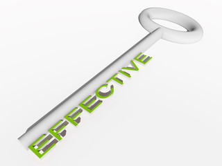 High resolution conceptual green white 3D key isolated