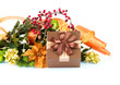 Christmas Decoration and Gift Box. Holiday Decorations