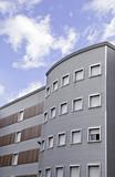 Modernist office building poster