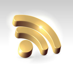 Golden RSS feed icon