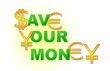 save your money - green