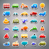 transportation sticker icons