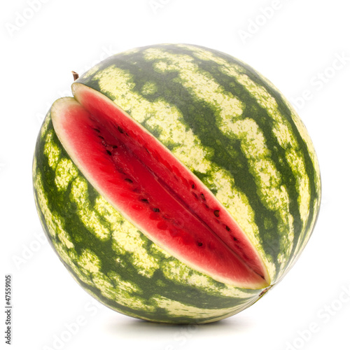 Sliced ripe watermelon