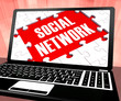 Social Network On Laptop Shows Online Communities
