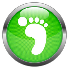 Vector Button Carbon Footprint