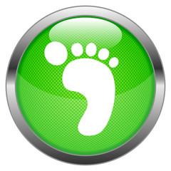 Vector Button Carbon Footprint