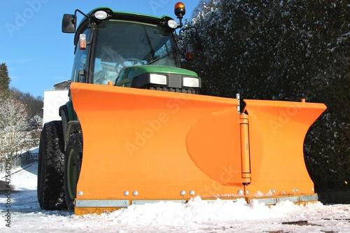 Leinwandbild Motiv Schneepflug