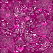 Valentine vinous repeating pattern