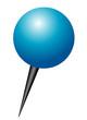 Stecknadel blau