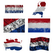 Dutch flag collage