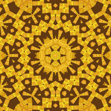 Yellow and Brown Mandala Star