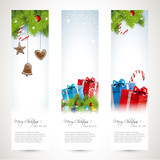 Set of three Christmas banners