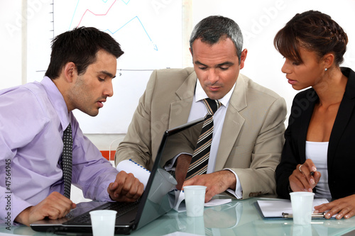 A group of businesspeople having a meeting