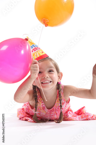 Little girl balloons