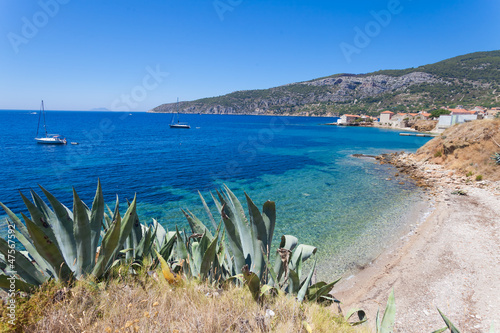 The bay on the island of Vis near Komiza.