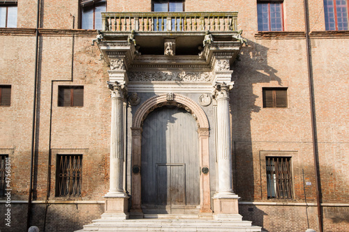 arched doorway of the building Prosperi Sacrati