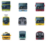 Fototapety Vector public transport icons