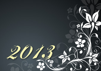 "Vector template ""Happy New Year 2013"""