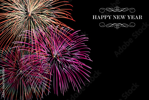Happy New Year fireworks background