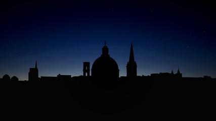 Malta Valletta skyline sunrise