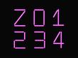 Z,0,1,2,3,4 alphabet pink neon