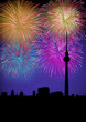 Happy New Year fireworks Germany landmark