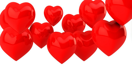 Hearts in 3d