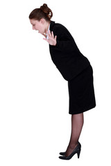 Businesswoman falling