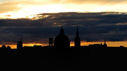 Malta Valletta skyline sunset