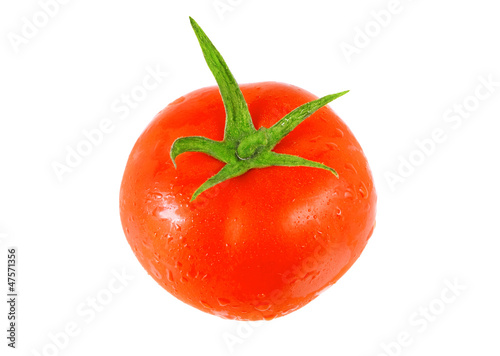 Single  tomato  .  Isolated