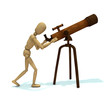 Dummy looks through telescope