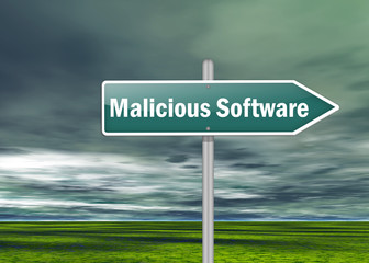 "Signpost ""Malicious Software"""
