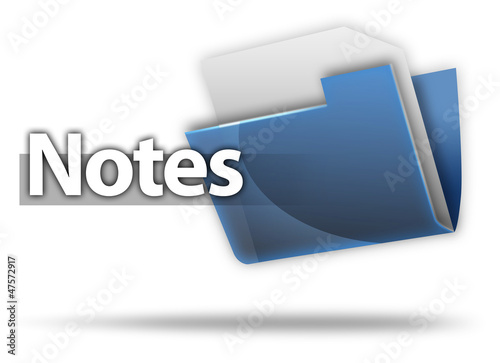 "3D Style Folder Icon ""Notes"""