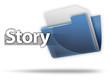"3D Style Folder Icon ""Story"""