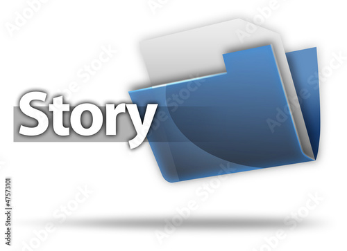 "3D Style Folder Icon ""Story"""