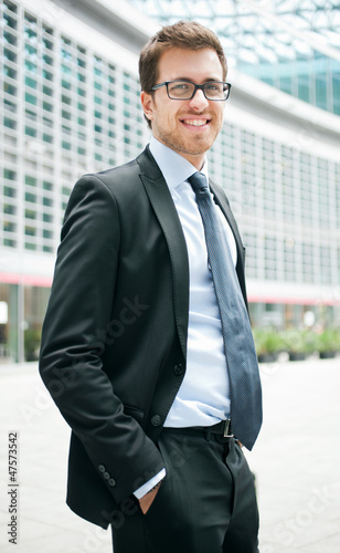 Outdoor businessman