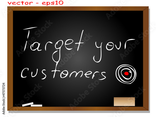Vector conceptual black blackboard with text