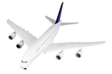 Modern airplane  on white.