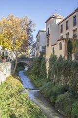 Paseo de los Tristes en Granada - España