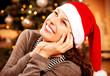 Christmas Girl at home. Christmas Wishes