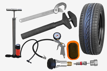 Tire repair workshop