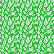 Vector seamless background with leaves