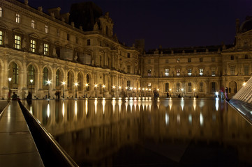 The Louvre Palace and the Pyramid, Paris, France