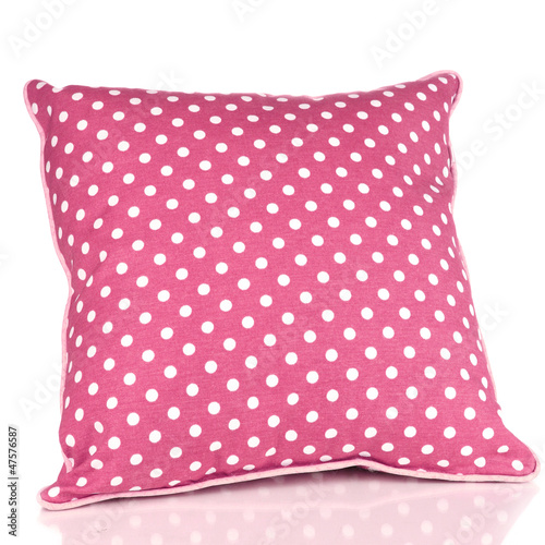 Pink pillow isolated on white