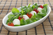 Italian Cheese mozzarella with tomatoes and salad