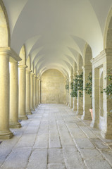 Mediterranean court of columns