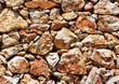 Texture of laying rocks