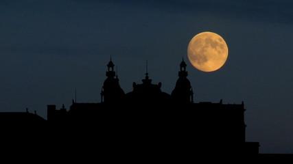 Monaco Monte Carlo casino moonrise