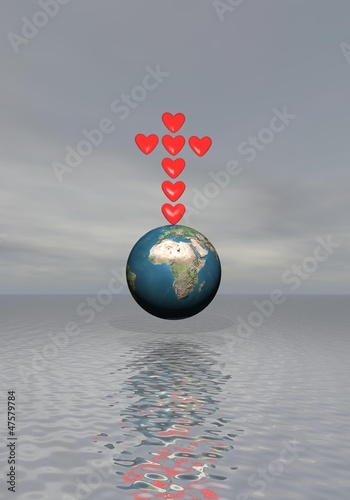 Faith for love on earth - 3D render